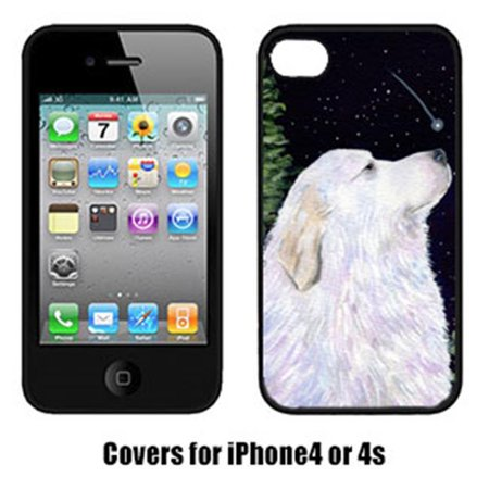 Carolines Treasures SS8470IP4 Starry Night Great Pyrenees Cell Phone Cover Iphone 4 - image 1 de 1