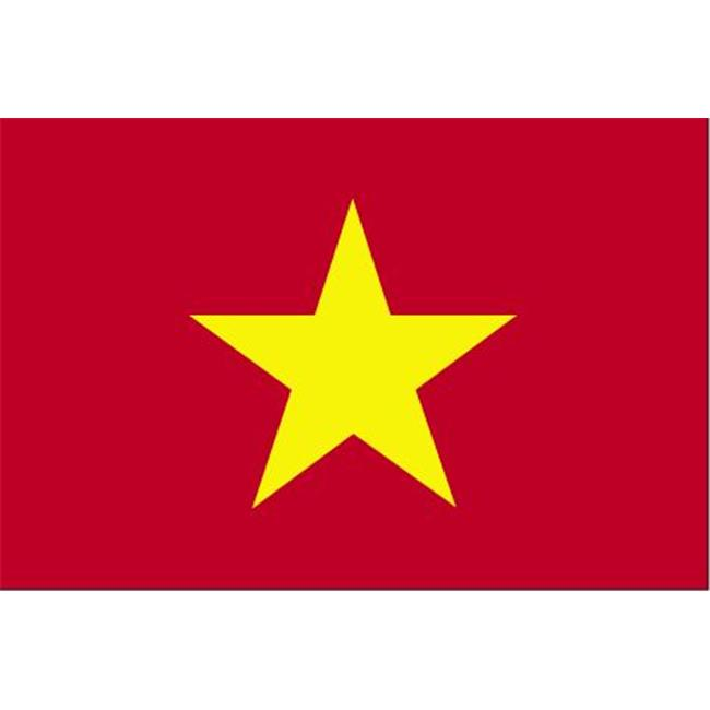 Annin Flagmakers 190429 4 ft. X 6 ft. Colonial Nyl-Glo Vietnam Flag with Fringe