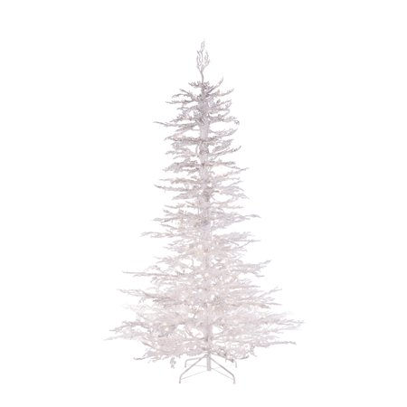 pre lit flocked white twig tree with 300 ul clear lights - White Twig Christmas Tree