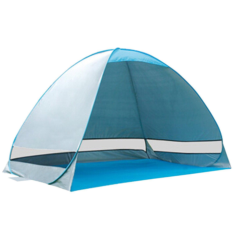 Beach tent Pop Up Portable Beach Tent Canopy UV Sun Shade Shelter Outdoor Camping Fishing Cabana Mesh 190T