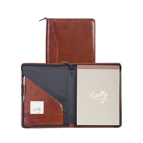 """Scully Zip Letter Pad Italian Leather 5012Z  10"""" x 13"""" x 1"""""""