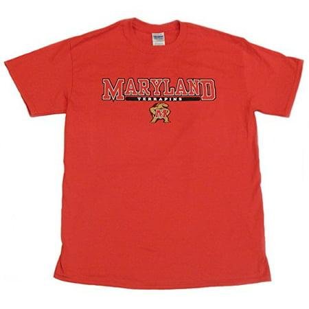 University of Maryland Terps Team Logo Red Short SleeveT-Shirt 100% Cotton (Medium)](University Of Maryland Logo)