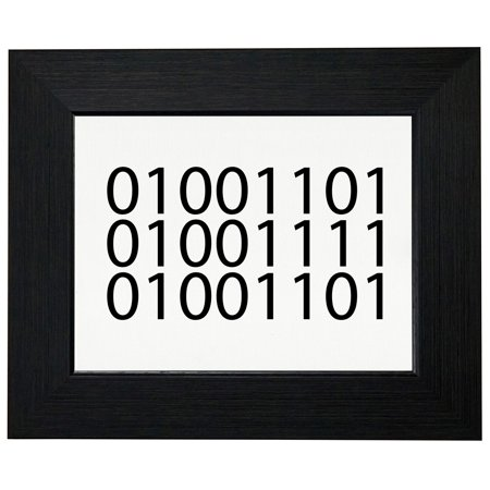 MOM In Binary Code - Geeky Computer - Mother's Day Framed Print Poster Wall or Desk Mount Options Binary Code Silk