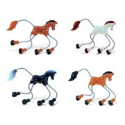 Puzzled Horse Refrigerator Springy Magnets - Animals Theme - Assorted Colors, set of 4 - Unique Affordable Gift and Souvenir - Item #7424