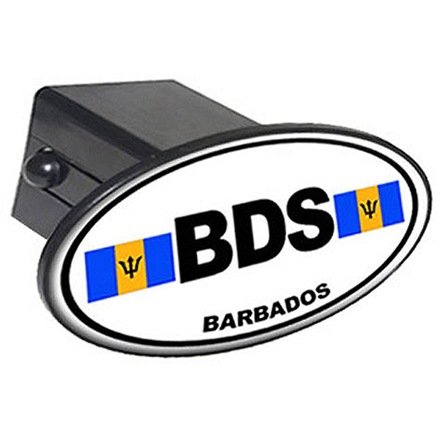 """Bds Barbados Country Euro Auto Oval 2"""" Oval Tow Trailer Hitch Cover Plug Insert by Graphics and More"""