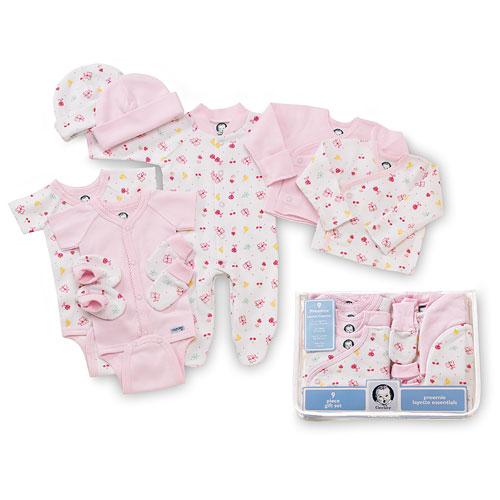 Preemie Essential Set for Girls, 9-Piece