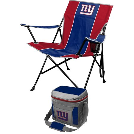 New York Giants Video Chair (New York Giants Tailgate Chair & Coleman 16-Can Cooler Combo Set - Blue - No)