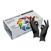 Heavy Duty Nitrile Gloves - Infi- Touch Black and Tough, Powder Free Gloves - (100 Count, Extra Large)