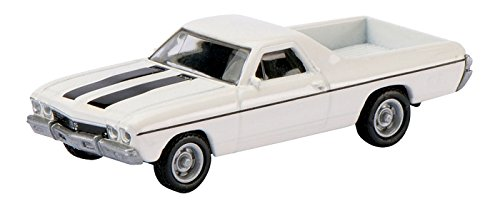 SCHUCO SEE MRC 2611500 1/87 1968 El Camino White w/Black Stripes