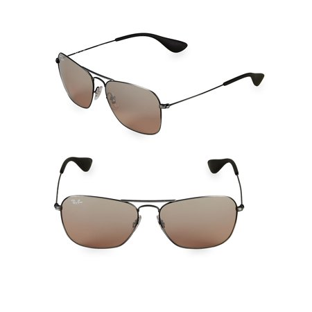 58MM Rectangle Sunglasses (Ray Ban Sunglasses Black And Gold)