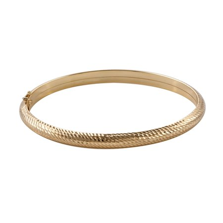 "10K Yellow Gold Bangle Bracelet 6.5"" Jewelry for Women Gift"