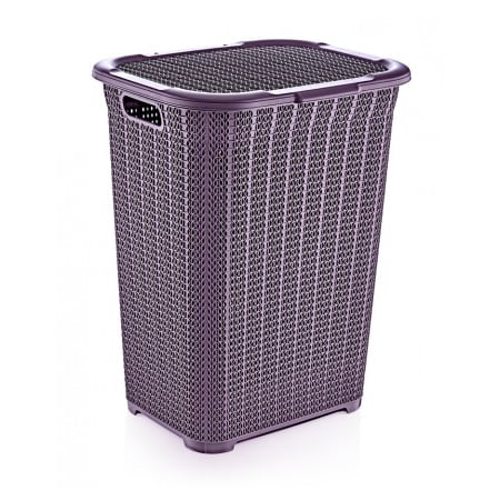 Superio Laundry Hamper, Knit Collection (Purple) ()