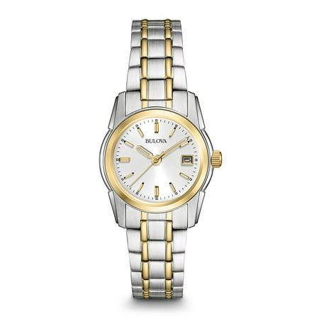 Bulova Women's Dress Two Tone Stainless Steel Watch 98M105
