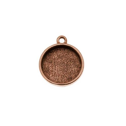 Nunn Design Antiqued Copper Plated Pewter Collage Circle Bezel 1/2 Inch