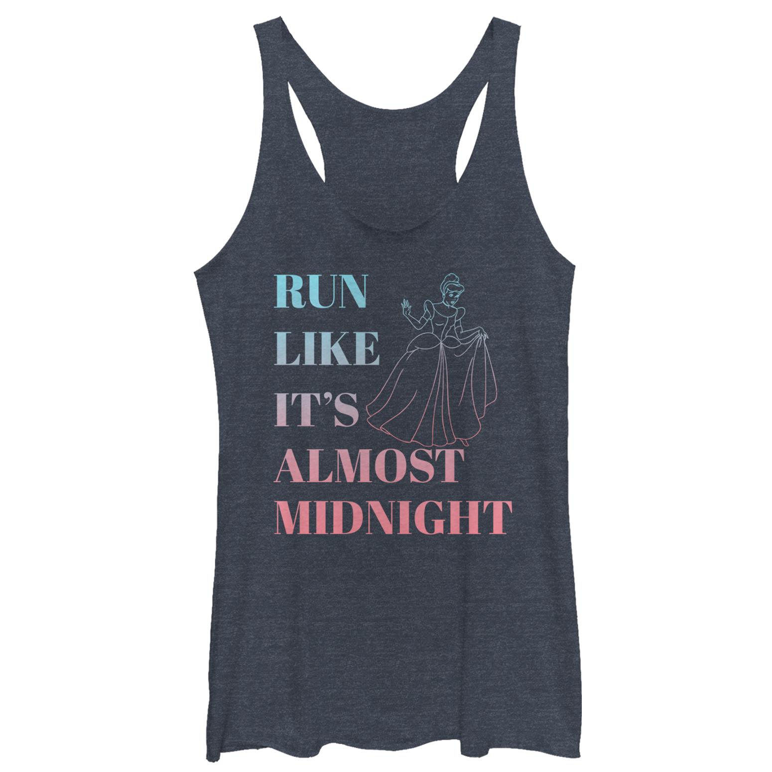 Cinderella Women's Run Like Midnight Racerback Tank Top