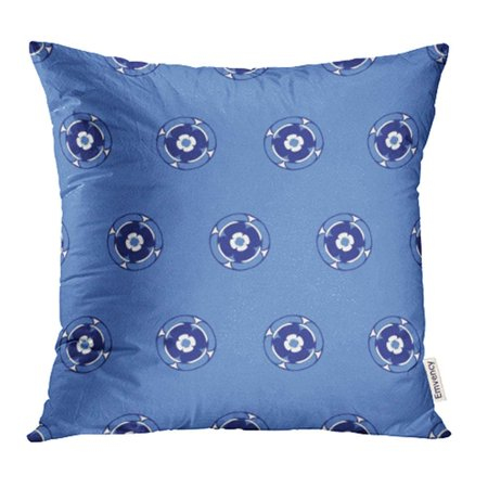 Arhome Classic African Flower Pattern Blue Abstract Africa