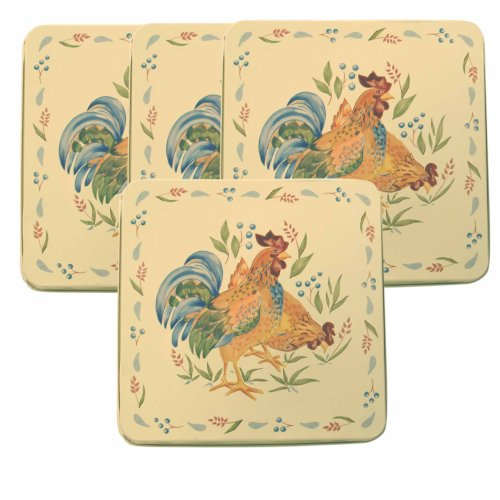 "Corelle Gas Burner Covers, Country Morning, 4 Covers (9""x9"")"