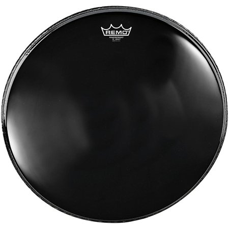 Ebony Beads (Remo Powerstroke 4 Ebony Batter Bass Drum Head with Impact Patch 26)