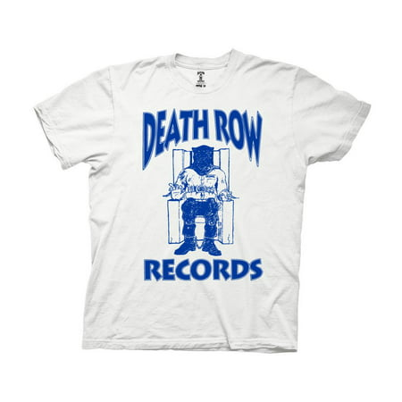 Ripple Junction Death Row Records Blue Logo Adult T-Shirt White