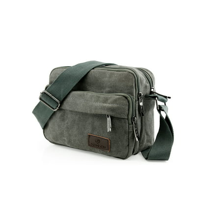 59a55f0e93 Men Vintage Crossbody Canvas Messenger Shoulder Bag School Hiking Military  Travel Satchel - Walmart.com
