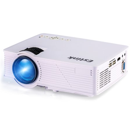 Video Projector Mini Portable LED Projector 2000 Lumens Multimedia Home Theater Support 800 x 480 TF Card AV VGA SD Card USB Port Projector Cinema Movie Party Games