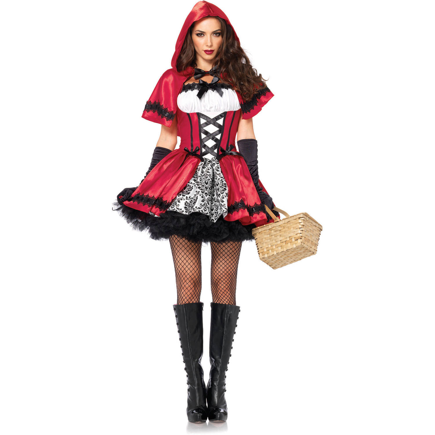 leg avenue gothic red riding hood adult halloween costume - walmart