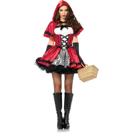 Women's Gothic Red Riding Hood Costume - Gothic School Girl Costume