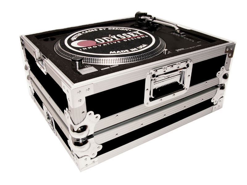 Odyssey Cases FTTXBLK Medium Duty Turntable Case W  Stackable Steel Ball Corners by Odyssey Cases