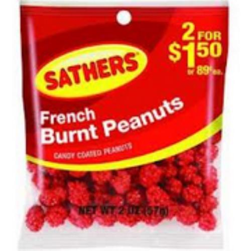 Sathers French Burnt Peanuts 12 pack (2oz per pack) (Pack of 2)