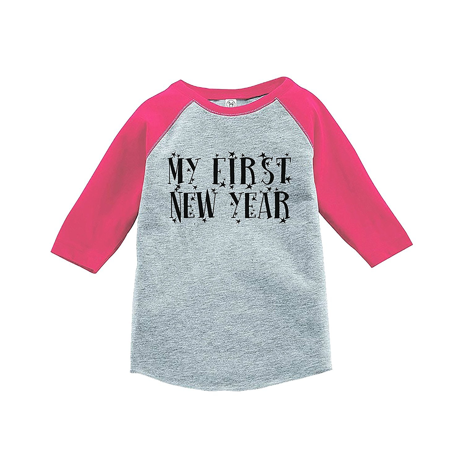 7 ate 9 Apparel Kids First New Year's Eve Pink Baseball Tee - 4T