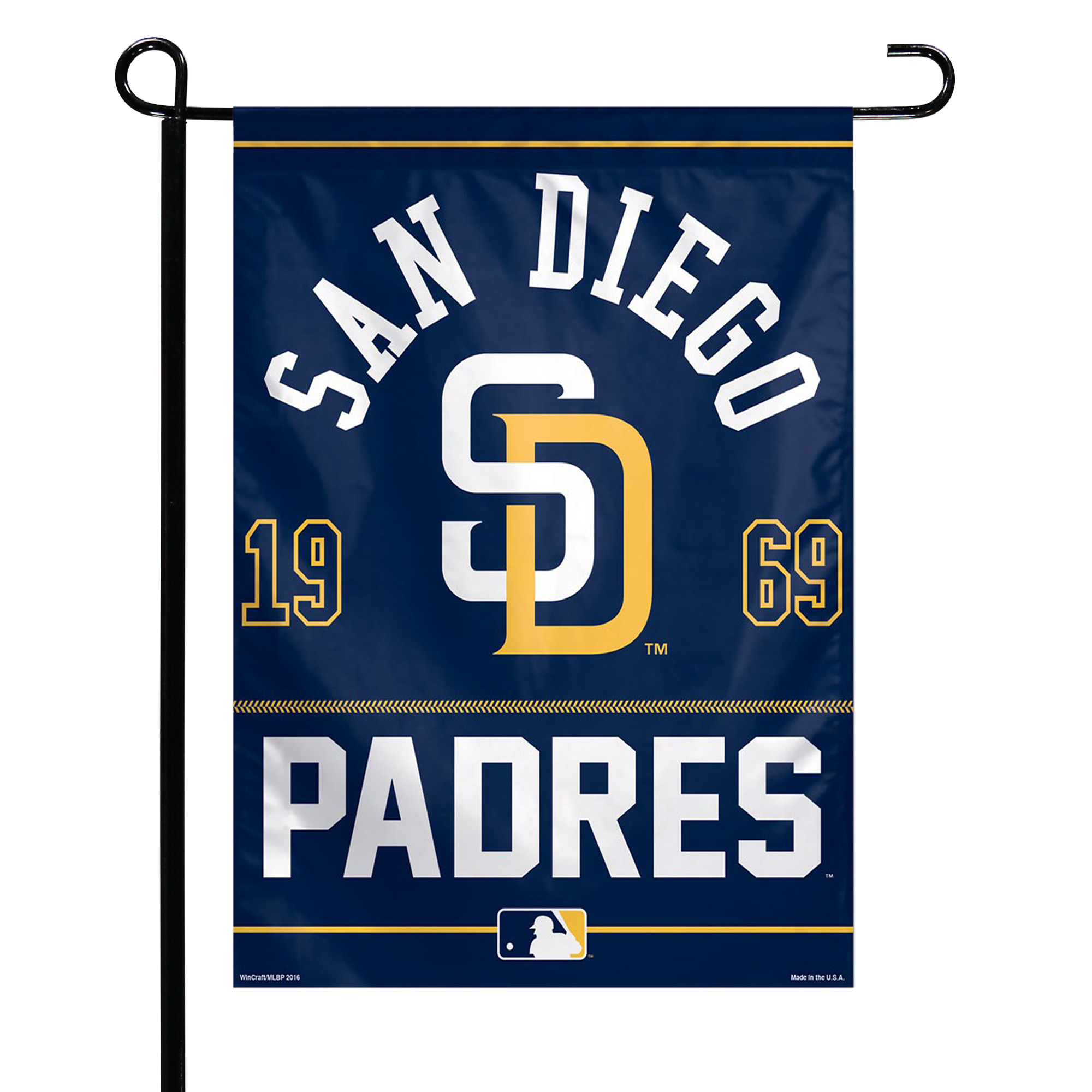 """San Diego Padres WinCraft 27"""" x 37"""" Single-Sided Vertical Banner Flag - No Size"""