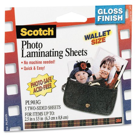 Scotch Self Sealing Photo Laminating Sheets  Clear  6   Pack  Quantity