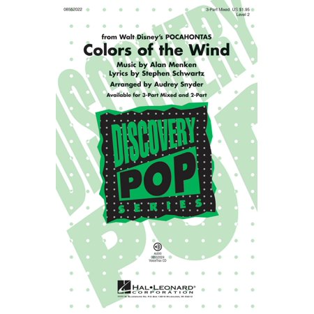 Hal Leonard Colors of the Wind (from Pocahontas) Discovery Level 2 3-Part Mixed arranged by Audrey - Pocahontas Accessories