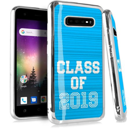Compatible Samsung Galaxy S10 S 10 Case Electroplated Chrome TPU Brushed Textured Hybrid Phone Cover (Class of