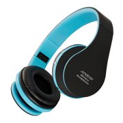 Andoer Foldable Stereo BT 3.0 Super Bass Headsets 3.5mm Wired Earphone Hands-free w/ Mic