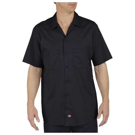 Dixie Tee Shirts - Dickies Mens Industrial Cotton Short Sleeve Work Shirt, Black - XL RG