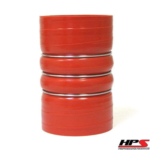 """HPS High Temp 4.5"""" ID x 6"""" Long 4-ply Aramid Reinforced Silicone CAC Coupler Hose Hot Side (114mm ID x 152mm Length)"""