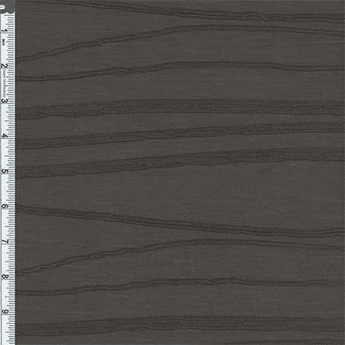 Grey Slinky Wave Jersey Knit, Fabric By the Yard