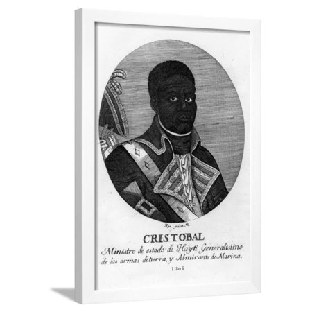 Henri Christophe, King of Haiti, 1806 Framed Print Wall Art By Rea