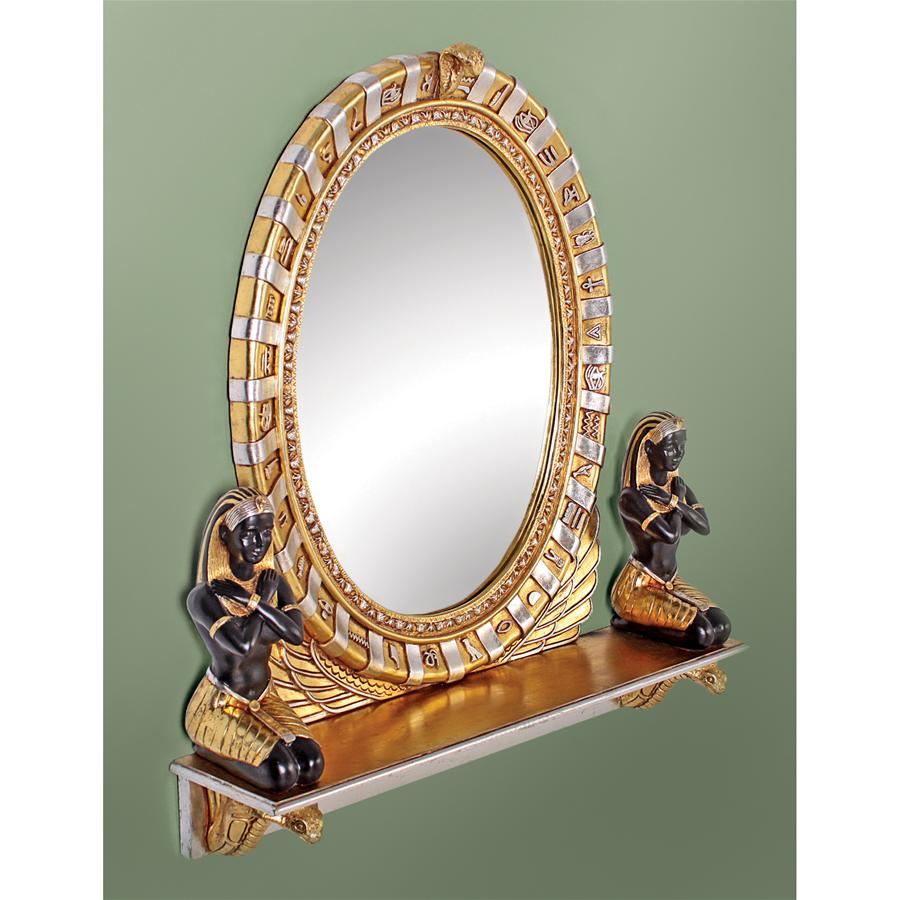 King Amenhotep Egyptian Statue Vanity Mirror by Design Toscano