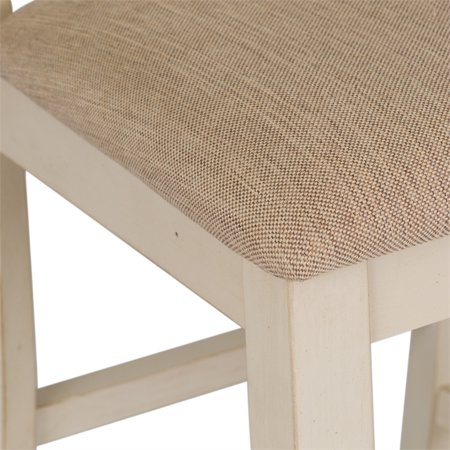 "Liberty Furniture Ocean Isle 24"" X Back Counter Stool in Bisque - image 8 de 9"
