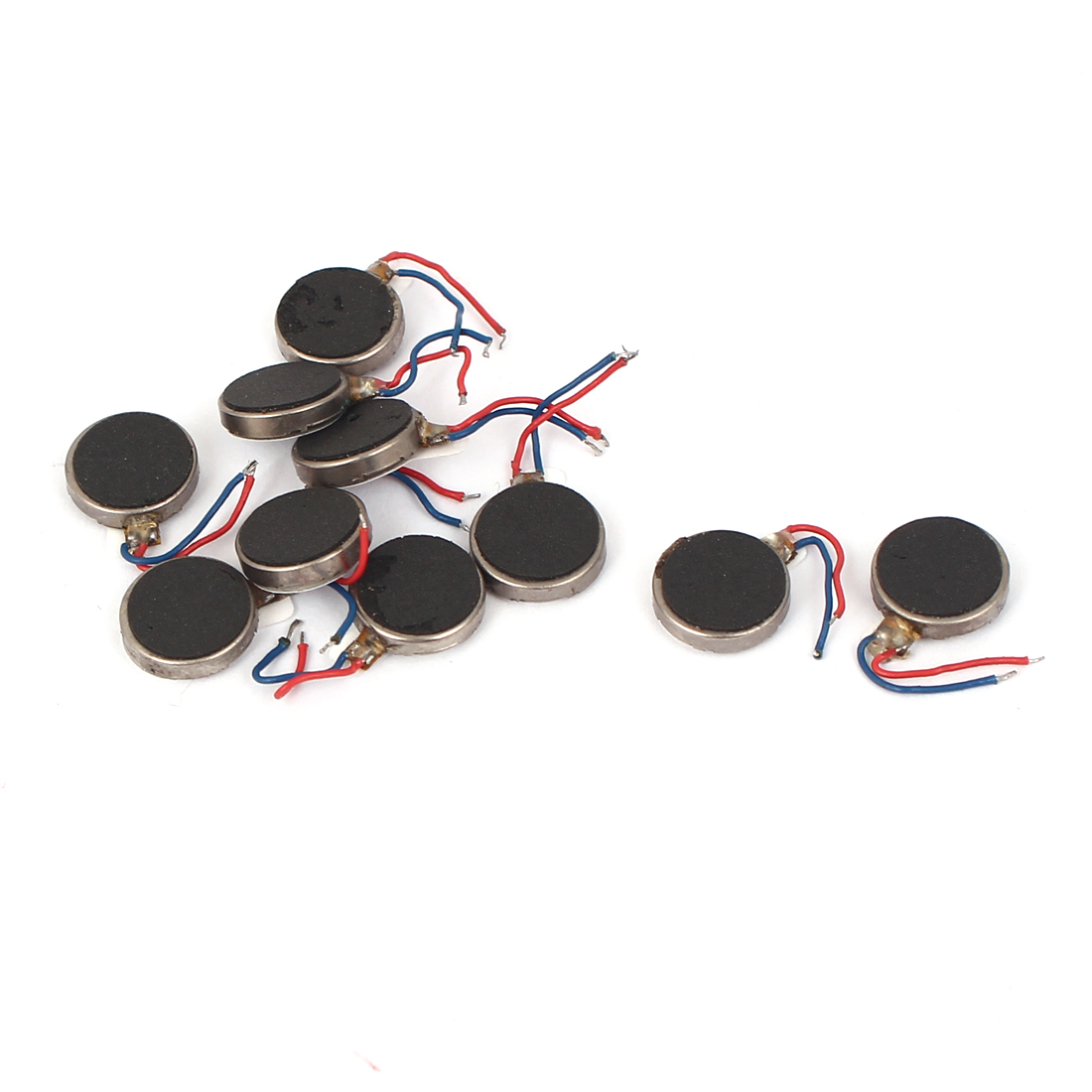 DC 3V 12000RPM Two Wired 10mm x 3mm Coin Cell Phone Vibration Motor 10pcs