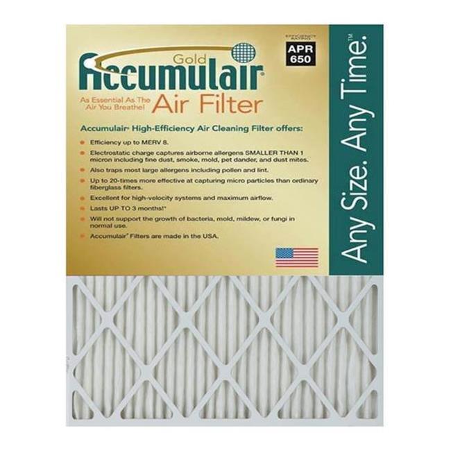 Accumulair FB19.75X21.5A 19.75 x 21.5 x 1 in. MERV 8 Actual Size Gold Filter