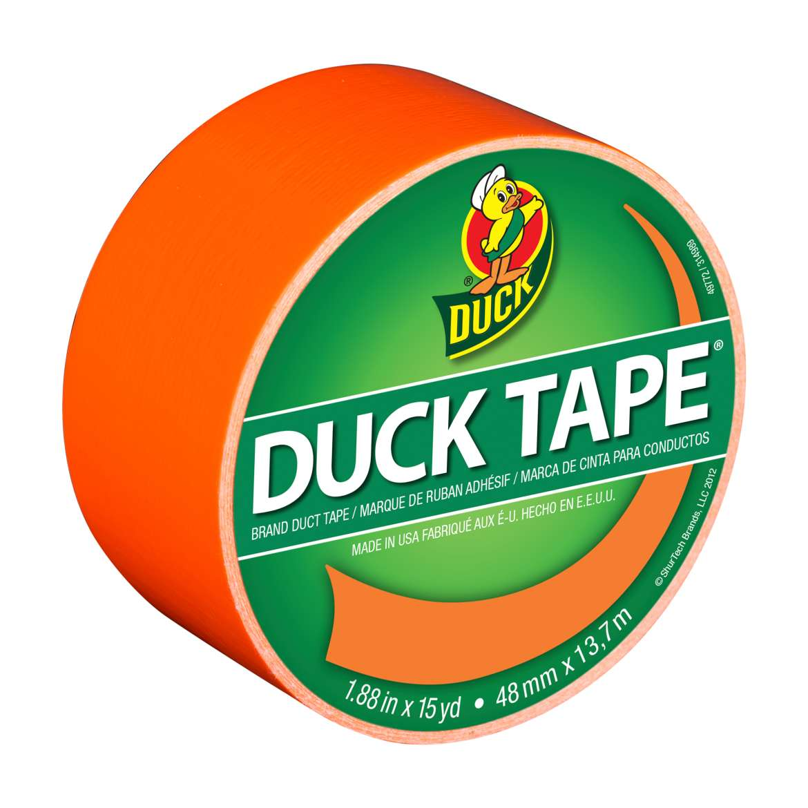 Duck Brand Duct Tape, 1.88 in. x 15 yds., Orange