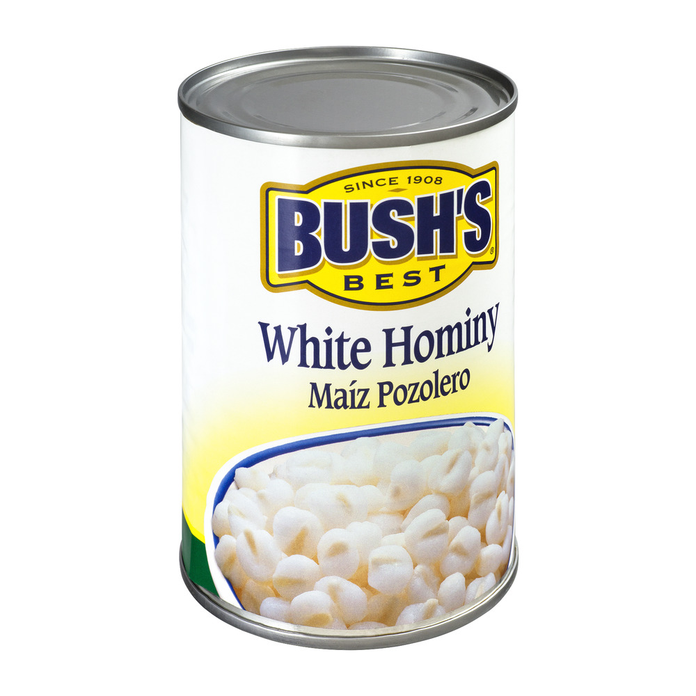 BUSH'S BEST White Hominy, 15.5 OZ