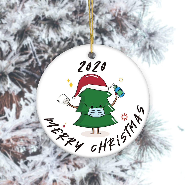 Popeve 2020 Merry Christmas Ceramics Ornaments Gift Cute Christmas Tree Xmas Ornament Hanging 3 Inch Round Ceramic Holiday Home Decor Made In The Usa Walmart Com Walmart Com