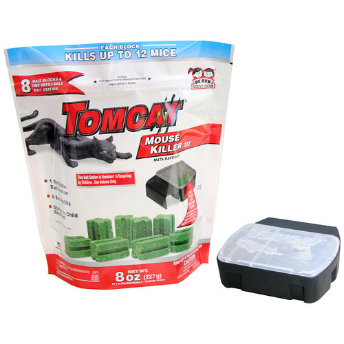 Tomcat Mouse Killer III Refillable Mouse Bait Station, 9 pc