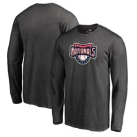 Washington Nationals Fanatics Branded Big & Tall Cooperstown Collection Huntington Long Sleeve T-Shirt - Heathered Gray
