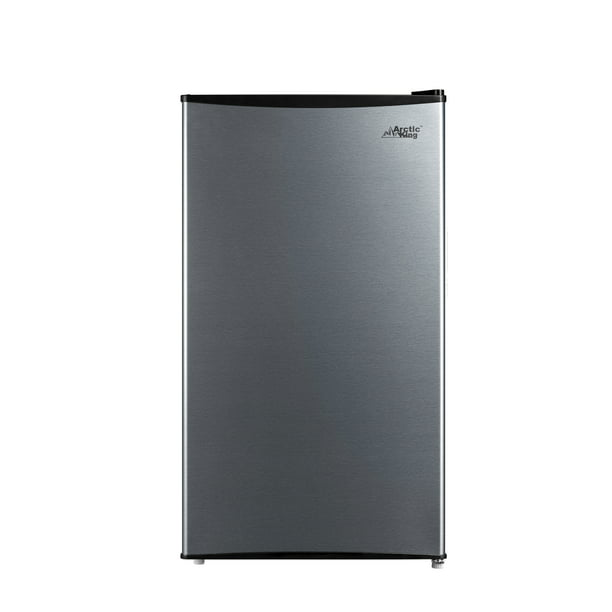 Arctic king 3.3 Cu Ft Single Door Mini Fridge, Stainless Steel