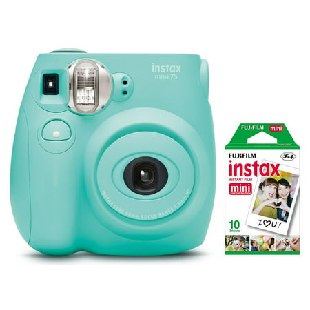 Fujifilm Instax Mini 7S Instant Camera (with 10-pack film) - Seafoam Green (Professional Mini Camera)